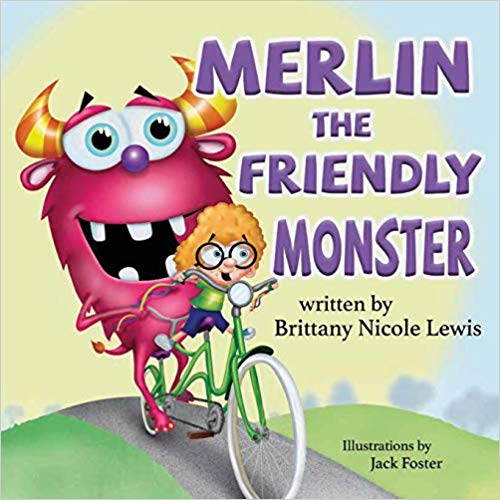 Author Brittany Nicole Lewis Merlin the Friendly Monster Book Cover Image